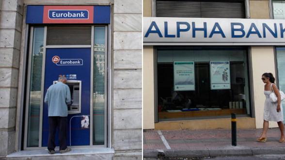 NBG, Eurobank, Alpha si Piraeus Bank au nevoie de 28 miliarde de euro pentru recapitalizare