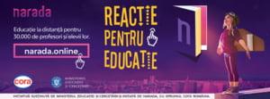"""Narada si Ministerul Educatiei lanseaza cu sprijinul Cora Romania initiativa """"Reactie pentru educatie"""""""