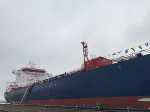 Nava de ultima generatie, lansata de Santierul Naval Constanta