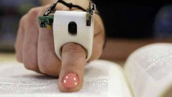 Nevazatorii vor putea citi orice text, cu ajutorul unui dispozitiv pentru deget