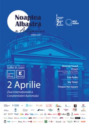 Noaptea Albastra a Autismului 2020: Romania va fi iluminata in albastru pe 2 aprilie