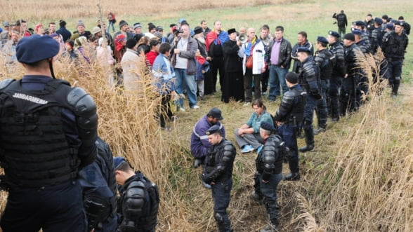 Nou protest la Pungesti fata de intentia Chevron de explorare a gazelor de sist