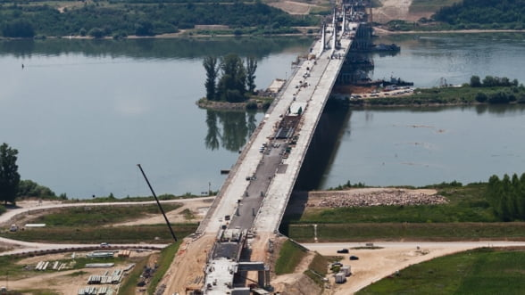 Noul pod dintre Romania si Bulgaria se deschide in primavara