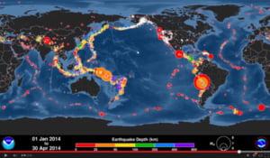 Numar record de cutremure in aprilie - vezi unde au avut loc si evolutia neobisnuita (Video)