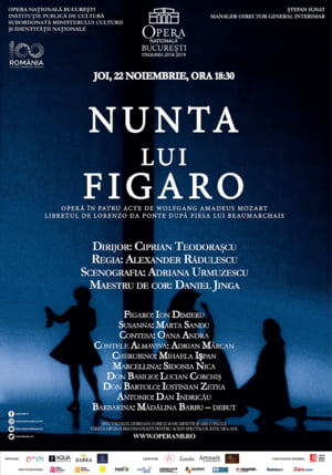 Nunta lui Figaro, in programul lunii noiembrie de pe scena Operei Nationale Bucuresti