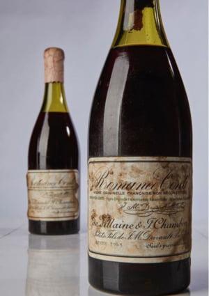 O sticla de vin din 1945 a fost cumparata cu suma record de 558.000 de dolari