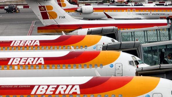 O treime din zborurile Iberia, anulate