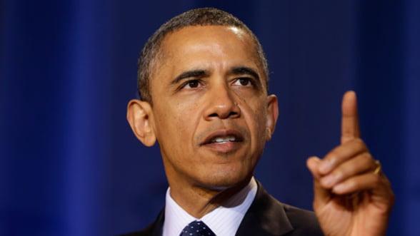 "Obama: Economia americana ar putea suferi un ""soc enorm"" in martie"