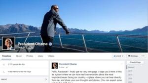 Obama are, in sfarsit, propriul sau cont de Facebook - Nimeni nu poate fi prieten cu el