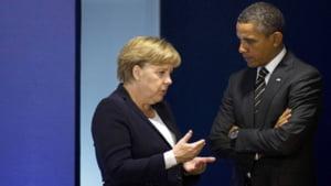 Obama si Merkel, intransigenti cu Putin: Sanctiunile impuse Rusiei raman in picioare