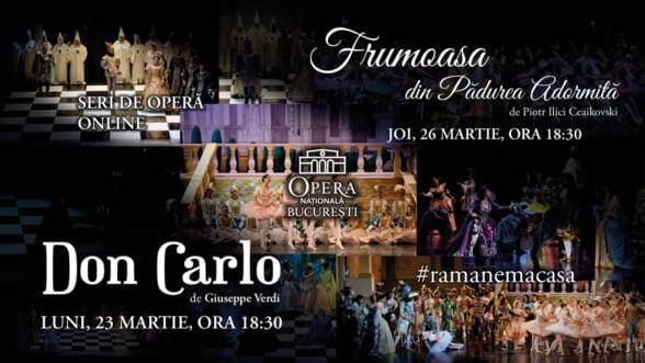 Opera Nationala Bucuresti difuzeaza online cele mai indragite spectacole