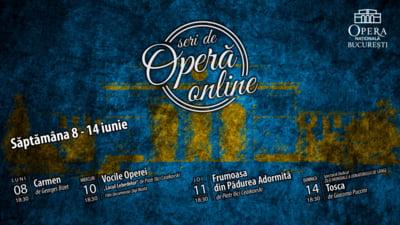 Opera Nationala Bucuresti inchide stagiunea cu transmisii online ale spectacolelor Carmen, Frumoasa din Padurea Adormita, Tosca si un episod din seria Vocile Operei