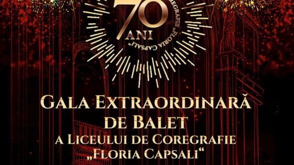 """Opera Nationala Bucuresti prezinta miercuri, 12 iunie, Gala Extraordinara de Balet a Liceului de Coregrafie """"Floria Capsali"""""""