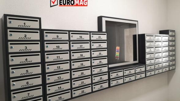 Organizare impecabila si simpla pe scara blocului prin intermediul cutiilor postale de la Euromag
