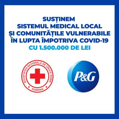 P&G doneaza prin Crucea Rosie bani si produse in valoare de 1.500.000 lei pentru medici si familii vulnerabile