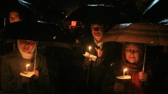Peste 30.000 oameni au participat la slujba de Inviere in Bucuresti