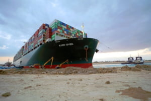 Pierderile uriase aduse economiei mondiale de esuarea navei Ever Given in Canalul Suez