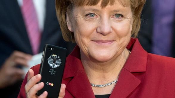 Planurile BlackBerry, date peste cap. Germania, atenta la telefonul lui Merkel