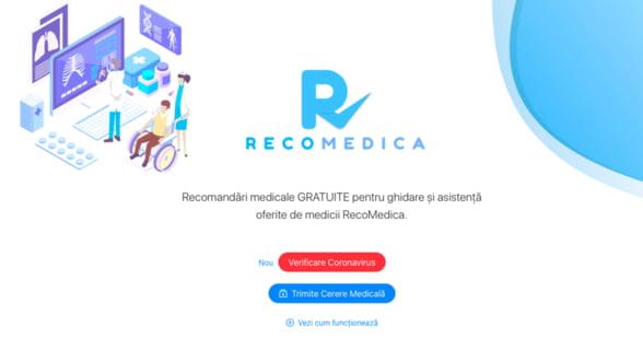 Platforma RecoMedica asigura evaluare si preventie medicala la distanta