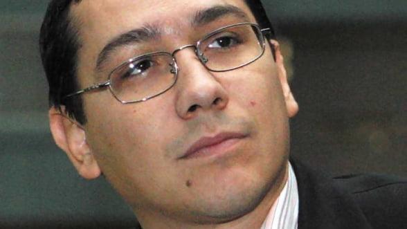 Ponta: A doua transa de crestere a salariilor e inclusa in majorarea de deficit