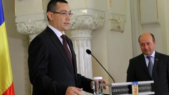 Ponta: Acordul de coabitare este suspendat
