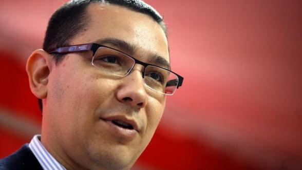 Ponta: Marea provocare a Guvernului e sa contribuie la reusita mediului de afaceri