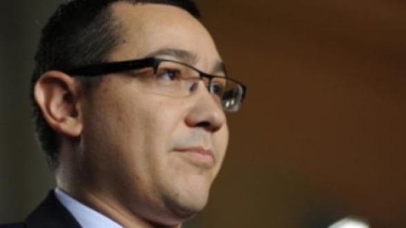 Ponta: Problema Romaniei este lipsa capacitatii de absorbtie