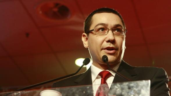 Ponta: Proiectul de lege privind descentralizarea va fi prezentat marti Parlamentului in forma finala