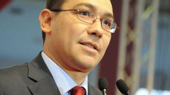 Ponta: Ritmul nostru de crestere economica il face invidios pe premierul francez