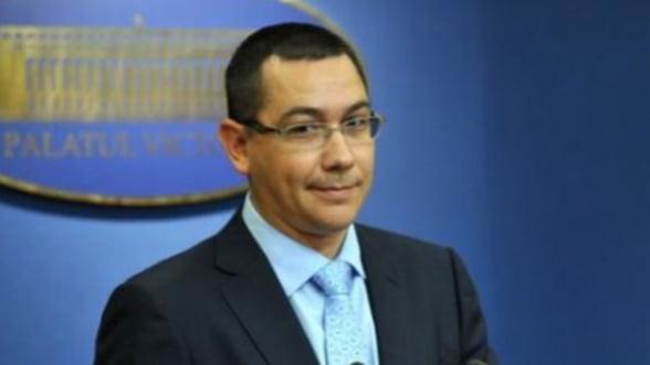 Ponta, despre uniunea bancara: Ca sa fie parte, Romania trebuie sa fie la masa