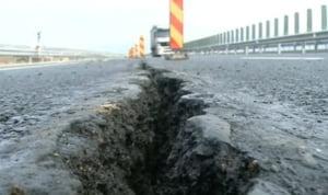 Portiuni din autostrada Sibiu-Orastie, demolate pe ambele cai de rulare