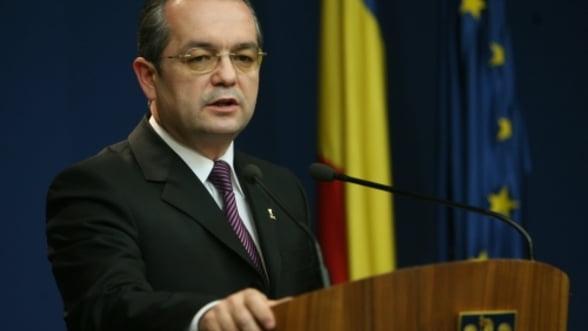 Premierul Emil Boc, in Parlamentul Romaniei. Live text