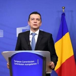 Premierul Grindeanu, intampinat cu proteste la Bruxelles