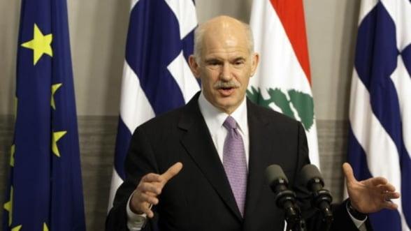 Premierul grec vrea guvern de unitate nationala