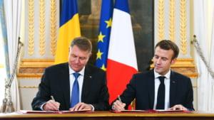 Presedintii Iohannis si Macron au semnat o declaratie privind parteneriatul strategic dintre Romania si Franta