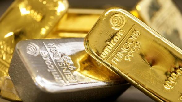 Pretul aurului a atins un nou maxim, dupa decizia BCE si FED