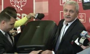 Prima reactie a lui Dragnea la Teleorman Leaks: A venit cu doua valize la Parlament