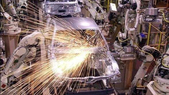 Productia industriala a crescut cu peste 10% in primul trimestru