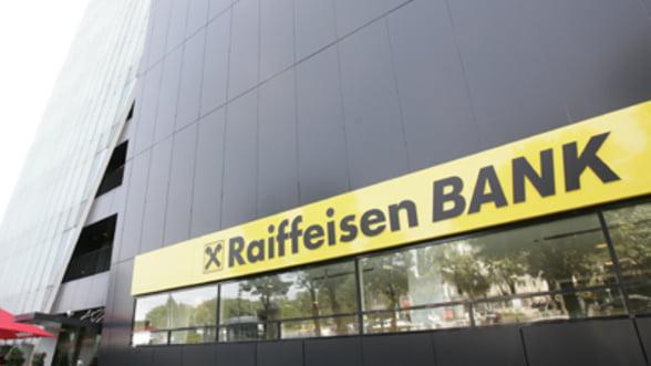 Profitul Raiffeisen Bank, in crestere cu 20% in primele 9 luni