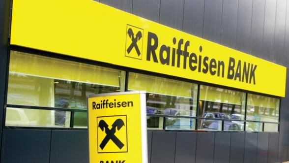 Profitul Raiffeisen in Romania a scazut cu 27,5% in primul trimestru