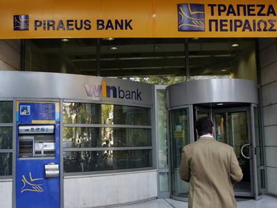 Piraeus Bank primeste ajutor de 380 milioane de euro