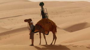 Proiectul Street View al Google continua cu o camila si o camera video in desert