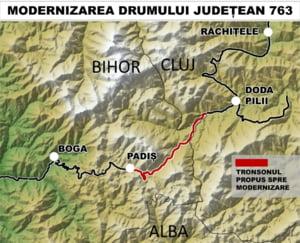 Proiectul lui Ilie Bolojan pentru drumul forestier care leaga Bihorul de Cluj prin Muntii Apuseni. Costa 6 milioane de euro