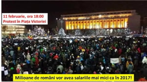 Protest fata de revolutia fiscala, duminica, in Piata Victoriei: Treziti-va! Salariile scad, inflatia creste!