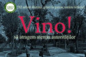 Protest in Bucuresti pentru Parcul Drumul Taberei: Modernizarea a distrus copacii