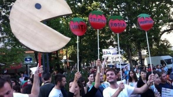 Proteste Rosia Montana. Peste 10.000 de manifestanti au marsaluit in Capitala