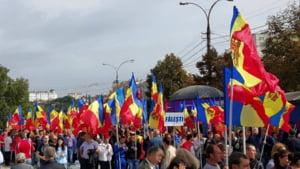 Proteste fata de Guvern la Chisinau, dupa ce Moldova a ramas fara bani de la FMI