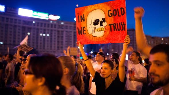Protestele fata de proiectul Rosia Montana au continuat in prima duminica din noiembrie