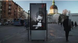 Reclama inteligenta in Suedia: Panoul care tuseste daca te apropii de el cu tigara aprinsa (Video)
