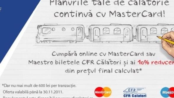 Reduceri: CFR ofera discount de 25% la biletele cumparate online